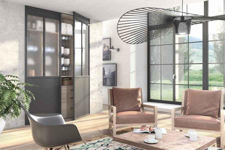 verri re sur mesure le charme du style atelier. Black Bedroom Furniture Sets. Home Design Ideas